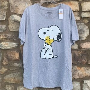 Snoopy Peanuts Gray T-shirt 3X